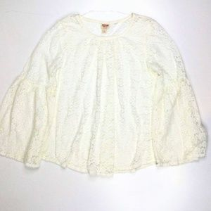 Mossimo Womens Long Sleeve Lace Blouse